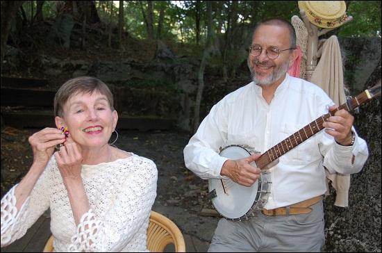 Actress Barbara Bates Smith and musician Jeff Sebens
