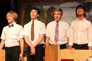Willam Belli, Matthew Scott Montgomery, Luke Stratte-McClure, and Emerson Collins in Southern Baptist Sissies