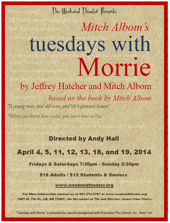 Tuesdays with Morrie at The Weekend Theater