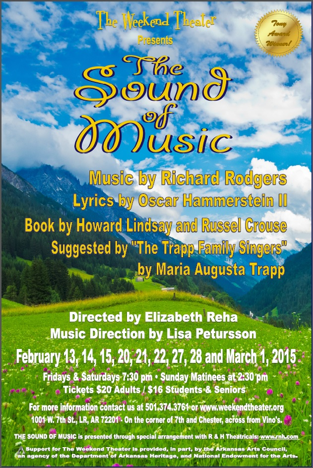 The Sound of Music at The Weekend Theater in Little Rock, AR